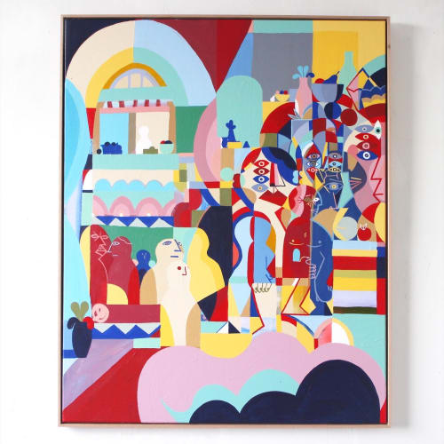 Unwell Bunny / Ed Bechervaise - Paintings and Art Curation