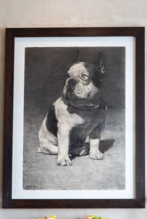 Paintings by Francois Bard seen at Spruce, San Francisco - French Bulldog