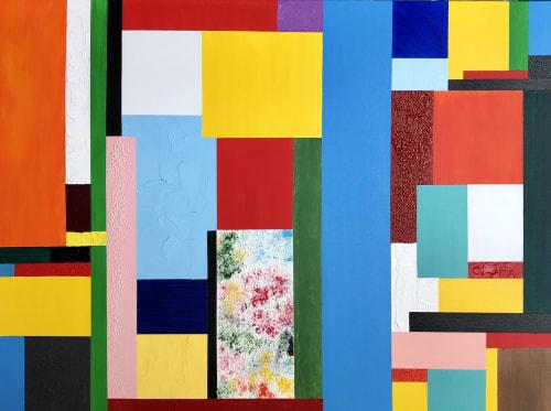 Paintings by Hugo Auler Jr. Art seen at Private Residence, Los Angeles - Geometry