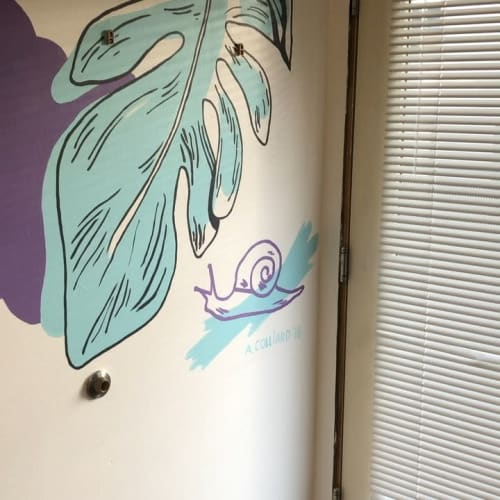 Murals by Anjelica Colliard seen at Pizza Perfect nails (Japanese Nail Art), San Francisco - Interior Mural