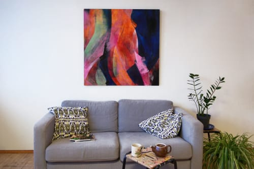 Paintings by Kimbal Quist Bumstead seen at Creator's Studio, London - Enfolding