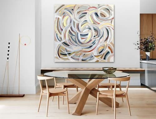Paintings by Linnea Heide contemporary fine art seen at Private Residence, Amsterdam - 'WiLD TURKEY' original abstract painting by Linnea Heide