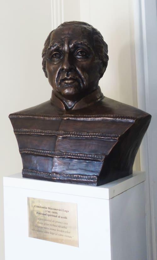 Public Sculptures by Linda-Saskia Menczel seen at Timișoara, Timișoara - Bust of C.D. LOGA
