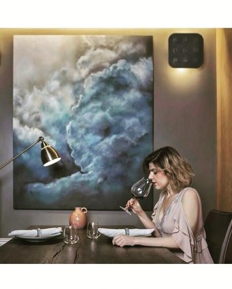 Paintings by Beatris Cobo seen at La Laguna Gran Hotel, San Cristóbal de La Laguna - Cloud Painting