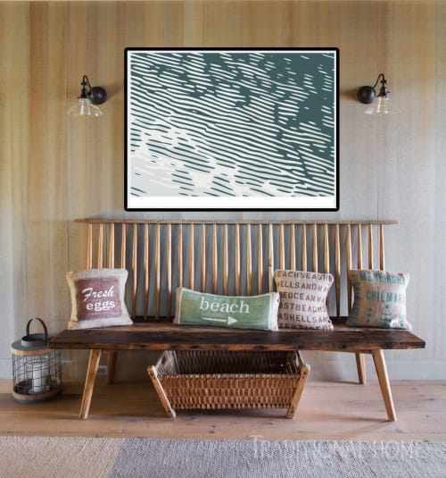 Art & Wall Decor by Richard Gene Barbera seen at Private Residence, New York - OCEAN RIPPLE LIMITED EDITION PRINT