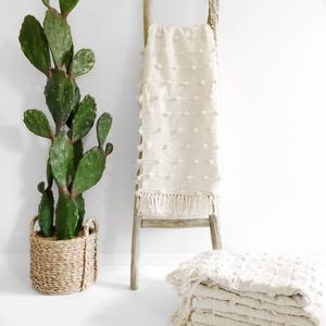 Linens & Bedding by Coastal Boho Studio seen at Destin, Destin - Cotton Sea Throw Blanket