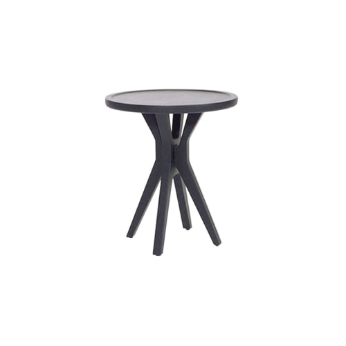 Tables by Labrica seen at Sublime Restaurante, Guatemala - Boton Two Side Table Black Stain