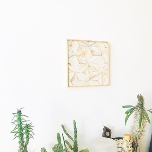 Wall Hangings by Nicole Sweeney seen at Private Residence, San Francisco - White Diamond Wall Hanging