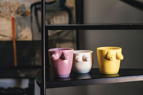 Cups by Patrizia Italiano seen at Private Residence - Woman mugs