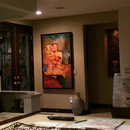 Paintings by Niki J Sands seen at Private Residence, Sausalito - Abrazar