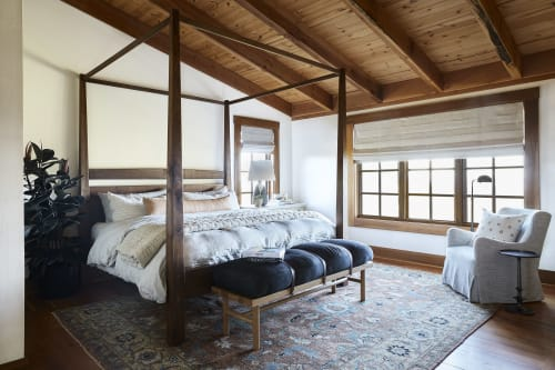 Beds & Accessories by Michael Finizio | Fine Woodworking seen at Private Residence, San Anselmo - Four Post King Bed
