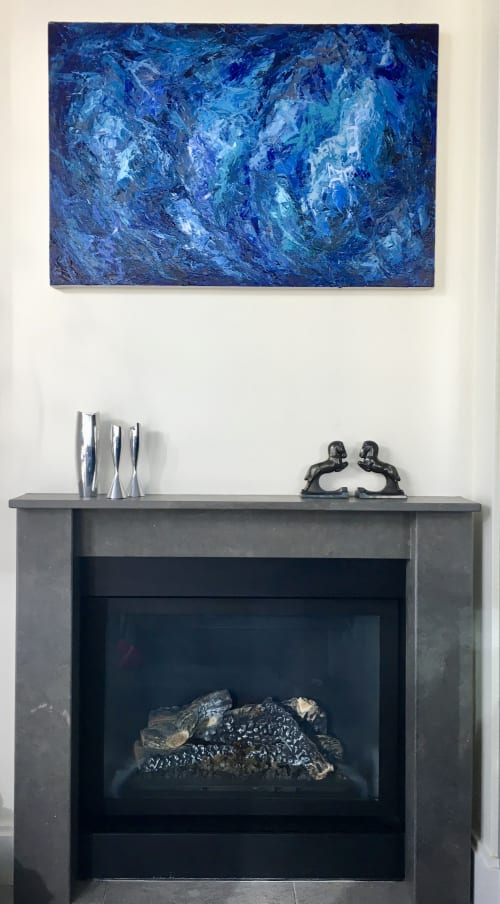 Paintings by Erin Cooke at Private Residence, Seattle, Seattle - Blue Haze