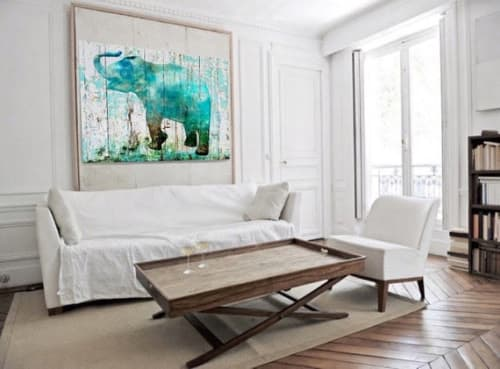 Paintings by Irena Orlov seen at Private Residence, Los Angeles - Blue Elephant