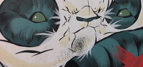 "Street Murals by Aaron ""Angry Woebots"" Martin aka ""Woes Martin"" seen at San Jose, San Jose - Mural"