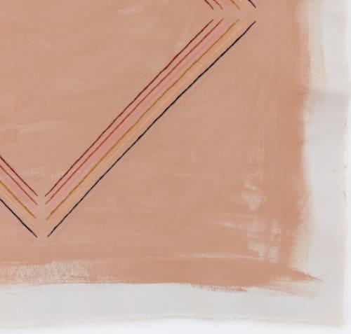 Art & Wall Decor by Emily Keating Snyder seen at Private Residence, Los Angeles - Caramel Brown Abstract Print with Diamond
