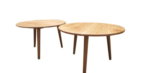 Tables by No Boundaries Furniture seen at ArboCafe, Christchurch - Rustic Oak Coffee Table