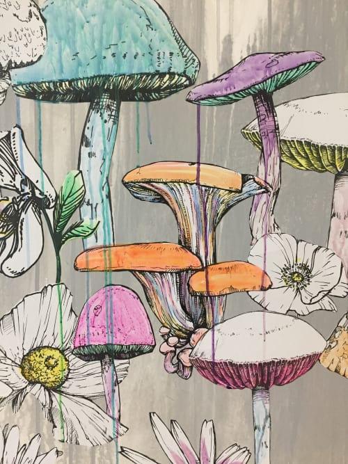 Murals by Sage Vaughn at Facebook HQ, Menlo Park - FBAIR Mural