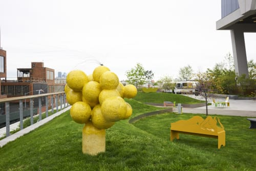 Sculptures by Joseph Algieri seen at Inside/Out - The Vale Park, Brooklyn - Pollen in Process