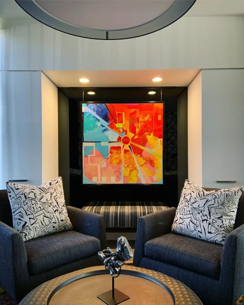 Paintings by James Wyper seen at Private Residence, Calgary - Code World Vll