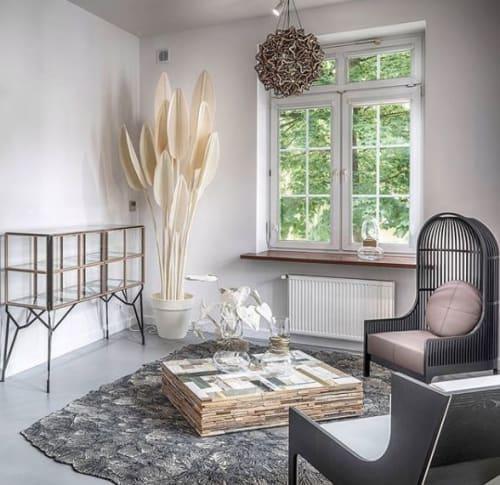Art & Wall Decor by Driessens & van den Baar WANDSCHAPPEN seen at KOOKU GmbH, Basel - Kooku Design White Felt Plant Collection