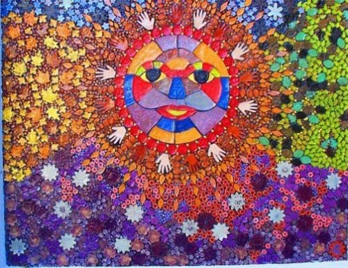 """Murals by Juliana Martinez seen at Heart Village, Los Angeles - """"Jewels of the Earth"""""""