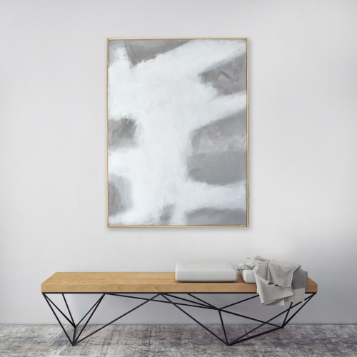 Paintings by Nicolette Atelier seen at Private Residence, Washington - Concrete No. 1