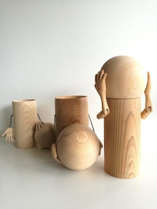 Utensils by woodappetit seen at Private Residence, Madrid - Big head jar