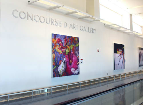 Murals by Gayle Mangan Kassal seen at Baltimore/Washington International Thurgood Marshall Airport, Baltimore - River Dance Mural Image