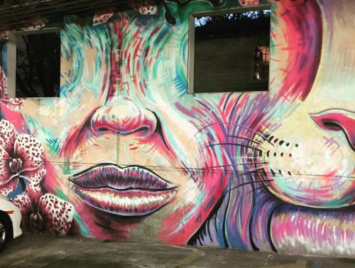 Murals by German Lemus seen at Orchid Medical, Orlando - Animal Face Mural