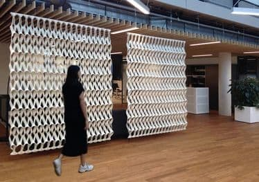 Wall Treatments by PLECTERE seen at Vanderlande, Veghel - PLECTERE products