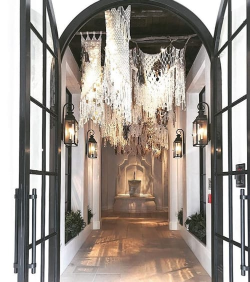 Macrame Wall Hanging by Modern Macramé by Emily Katz seen at Ralph Lauren, Beverly Hills - Macramé installation