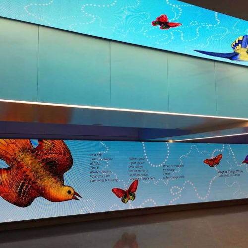 Art & Wall Decor by Carson Fox Studio seen at Pennsylvania Station, New York - Blue Sky Pursuit