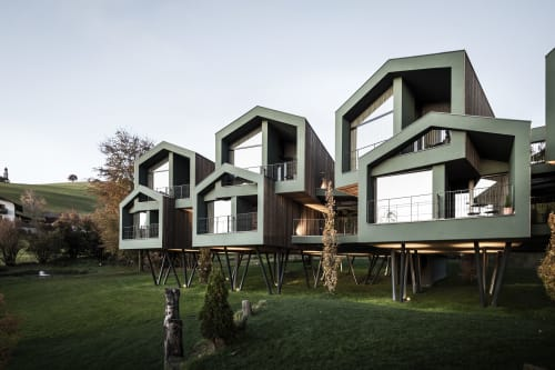 Architecture by noa* network of architecture seen at Parc Hotel Florian, Siusi - Floris: A park expanding its' own horizon
