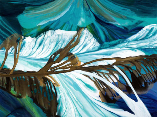 Murals by Terry Kruse seen at Private Residence, Calgary, Calgary - Columbia Icefields