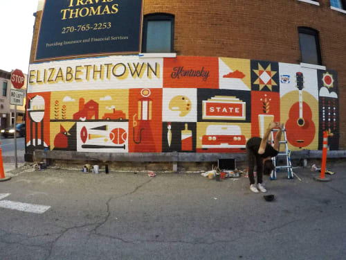 Elizabethtown Ky Mural By Nathan Brown Seen At Elizabethtown