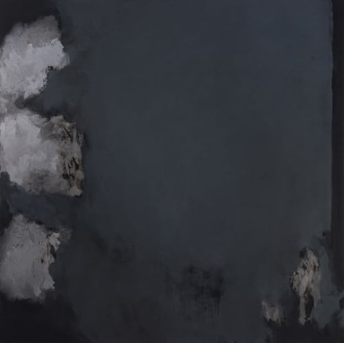 Paintings by Allen Anthony Hansen seen at 107 Suffolk St, New York - explosion painting