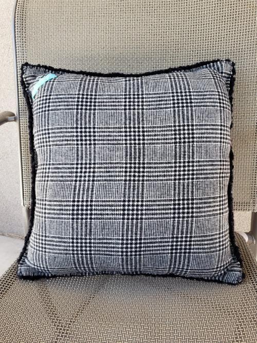 Pillows by High on Hooking seen at Albuquerque, Albuquerque - Pathways Across New Mexico Throw Pillow