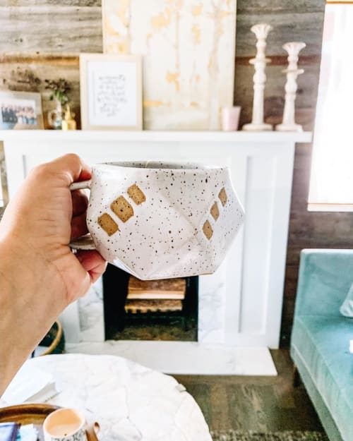 Cups by Edie Frylings seen at Private Residence, Denver - Folded Star Mug