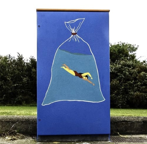 Murals by Tinygreens seen at Conquer Hill Road, Dublin - Strong Swimmer