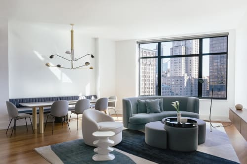 Couches & Sofas by Custom Interiors Shop seen at Private Residence, Flatiron District, New York - Couches & Sofas