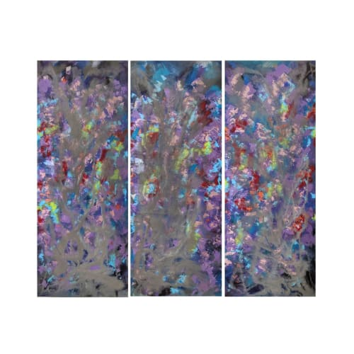 Paintings by Soulscape Art seen at Private Residence, Hollister - Custom Triptych Set