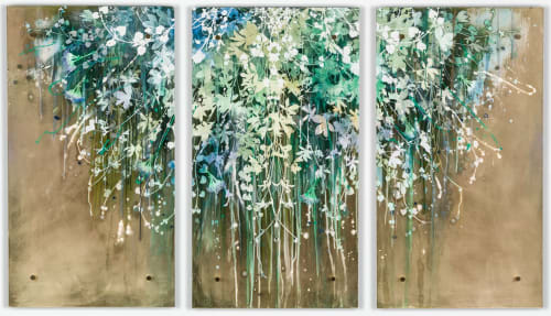 New Beginnings Triptych | Paintings by Cara Enteles Studio | Perry Lane Hotel, a Luxury Collection Hotel, Savannah in Savannah