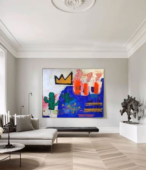 """Paintings by DIVE Madhouse seen at Private Residence, New York - """"FLASHING LIGHTS IN THE MIND OF THE MAD-KING"""""""