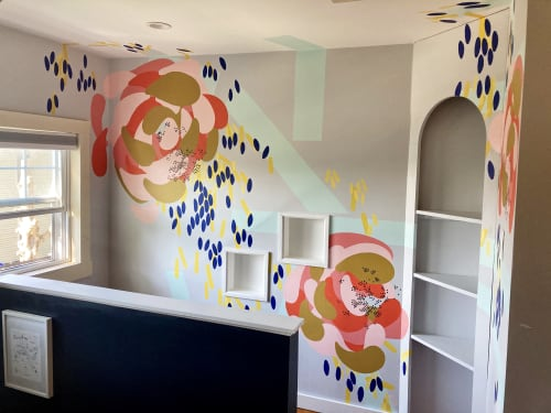 Murals by Rebecca Volynsky seen at Private Residence, Providence - Residential Commission in Providence, RI