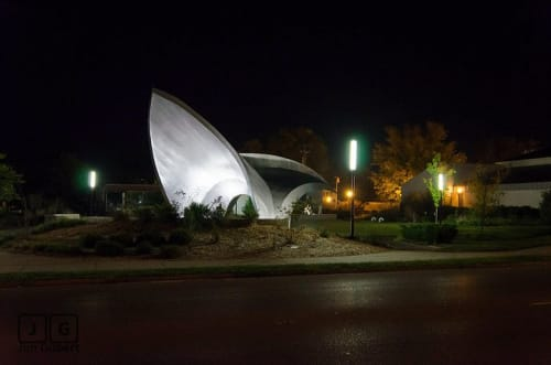 Public Sculptures by Medwedeff Forge and Design seen at Murphysboro, Murphysboro - Town Center Park Amphitheater