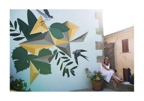 Murals by Chris Matos seen at Castagno Di Piteccio, Castagno - Castagno