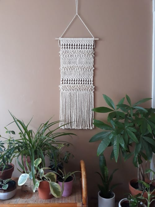 Macrame Wall Hanging by J. Barcellos Macrame seen at Private Residence, Somerville - Custom Wall Hanging