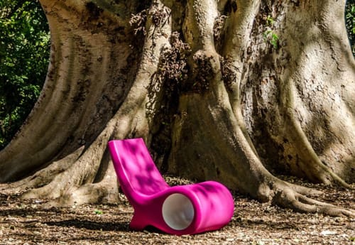 Chairs by Satyendra Pakhalé seen at Fairchild Tropical Botanic Garden, Coral Gables - Fish Chiar Viola