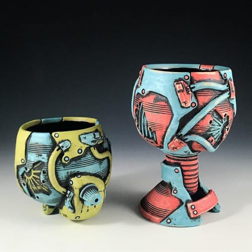 Andrew Clark Pottery - Cups and Tableware