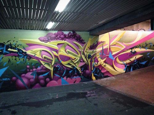 Street Murals by Peeta seen at Metropolitan City of Genoa - Genova (IT) Mural